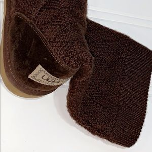 ❄️🌟Knitted Chocolate Brown Uggs🌟❄️